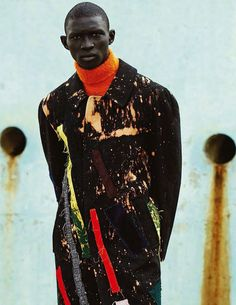 Kunst Pause Boasts Paint Printed Coats and Vivid Knitwear Staples #GQ trendhunter.com