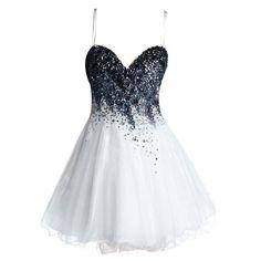 Fashion Tulle Homecoming Dress,Spaghetti Strap White Homecoming Dresses ,Beaded Short Prom Dress