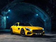 メルセデス・ベンツ、黄色、2015 AMG GT S C190、自動車