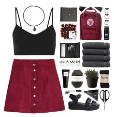 """""""Black Choker"""" by via-m ❤ liked on Polyvore featuring Live The Process, Fjällräven, Nude, Pelle, Karen Kane, Linum Home Textiles, Sephora Collection, Muuto, NLY Accessories and OXO"""