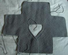 cardi_2b  ~inspiration- crochet this shape to create baby cardi similar to cardi shown in adjacent pin~  bras5