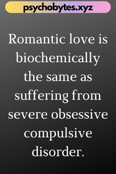 Psychological Facts about Love is something that everyone should know. The world of psychology always leaves us in a state of amazement. If you want to know Psychological Facts that will melt your heart, this board is for you. Psychology Facts About Love, Love Facts, Crush Facts, Obsessive Compulsive Disorder, Romantic Love, Best Relationship, Disorders, Leaves, This Or That Questions