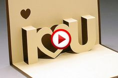 Homemade Valentines: 3-D Valentine's Day Cards Video #Valentines, #pinsland, #yangutu, #videobox, #howto, https://apps.facebook.com/yangutu
