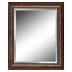 allen   roth�27-in x 33-in Bronze Rectangular Framed Mirror