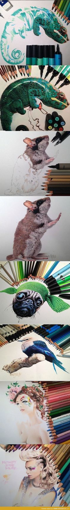 Photorealistic drawing skills