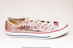 f8b27c1657c Tiny Sequin - Starlight Rose Gold Canvas Low Top Sneakers Tennis Shoes by  Princess Pumps