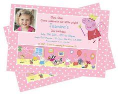 Peppa Pig Children Girls Birthday Party Invitation Decoration Theme Pink