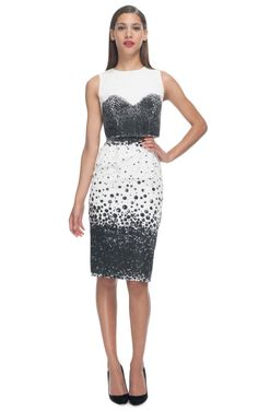 pearl print corset shell and pencil skirt - katie ermilio