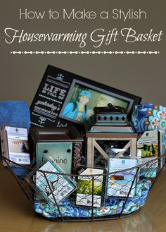 Need the perfect gift? Whether the home is new or not, check out these great ideas for making  a Stylish Housewarming Gift Basket with ScentSationals Wax Warmers from @Walmart! #WicklessWonders #ad