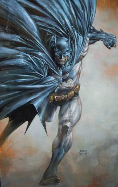 Batman in a painting by David Finch