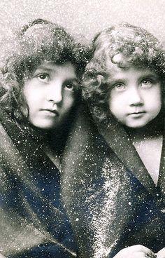 Vintage Postcard ~ Sweet Girls