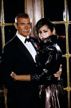 Sean Connery & Barbara Carrera | Never Say Never Again  1983. Luv the way he looks