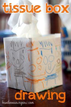Kids Designs for Tissue Boxes. #tissuebox #rainyday #activity #home #weekend #decor #decoration #custom #design #crayon #draw #kindergarten #prek #preschool #diy #craft #simple #creative #easy #adorable #kids #children
