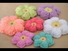 Cómo hacer una flor puff de ganchillo | Crochet puff flower - YouTube