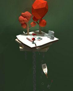 Lowpoly 3D Blender - Wish
