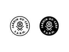 Alternate logo for the Jardin du Cerf brand. #jardinducerf