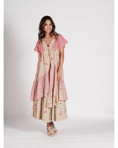 ROBE LES ALPILLES N°6 Short Sleeve Dresses, Dresses With Sleeves, Bohemian, Summer Dresses, Style, Fashion, Skirt, Jacket, Floral Print Design