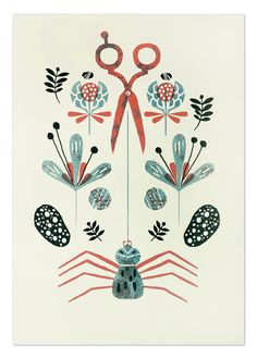 Araña Screenprint by MalotaShop on Etsy