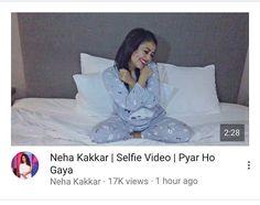 Dekha Naya Selfie Video? #PyarHoGaya ❤️ Watch it on My #Youtube Channel or My #Facebook Page ☺️ #NehaKakkar