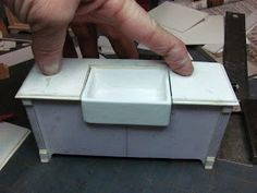 Dollhouse Miniature Furniture - Tutorials | 1 inch minis: PART FOUR, KITCHEN CABINETS MADE FROM MAT BOARD