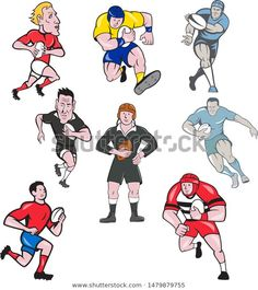 Find Set Collection Cartoon Character Mascot Style stock images in HD and millions of other royalty-free stock photos, illustrations and vectors in the Shutterstock collection. Olympic Sports, Rugby League, Cartoon Characters, Fictional Characters, Sports Art, Royalty Free Stock Photos, Comics, Retro, Craft