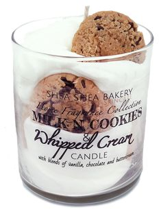 Milk n' Cookies Signature Candle Cute Candles, Unique Candles, Diy Candles, Scented Candles, Candle Jars, Milk Cookies, Chocolate Chip Cookies, Homemade Candles, Candle Making