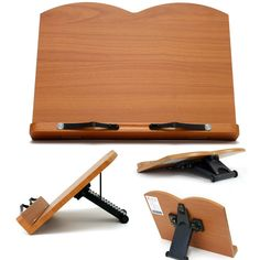 Book Stand Portable Wooden Reading Recipe Cookbook Desk Music Holder Lavender
