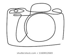 Continuous line art or One Line Drawing of a camera linear style and Hand drawn vector illustrations, outline art illustration Vetor stock de Continuous Line Drawing Father Holding Baby (livre de direitos) 1214422681 Computer Illustration, Camera Illustration, Outline Illustration, Abstract Line Art, Abstract Drawings, Outline Drawings, Art Drawings, Tattoo Drawings, Camera Outline