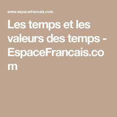 Les temps et les valeurs des temps - EspaceFrancais.com