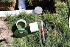 Move water away from the foundation of your home by installing underground drainage for a gutter. #twofeetfirst Underground Gutter Drainage, Drainage Pipe, Drain Pipes, Drain Away, French Drain, Home Improvement Projects, Foundation, Diy, Backyard