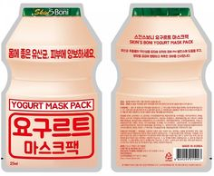 SKIN'S BONI Yogurt Mask Pack 25ml 10PCS Nourishing, Moisturizing K-Beauty #SKINSBONI