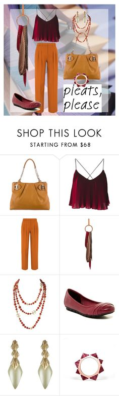 """""""Pleats 1"""" by roquinn ❤ liked on Polyvore featuring Salvatore Ferragamo, Victoria, Victoria Beckham, Loewe, Børn, Alexis Bittar and pleats"""