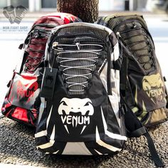 Venum Challenger Pro Backpack available in 3 colors Black/Grey , Red/Black/ , and Olive Black. Now available at MSM Fight Shop  #backpacks #bags #travel #commute #venum #venumbags #mma #ufc #gymbags