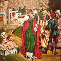 6 décembre. Fête de saint Nicolas évêque de Myre en Lycie. c. 1490 Galerie nationale hongroise. Château royal de Buda.