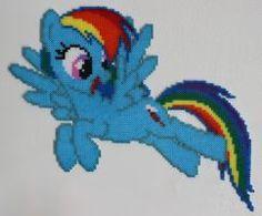 Hama Mini Beads - MLP - Rainbow Dash by Alex7190