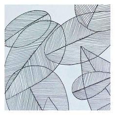 Art Print: Grey Leaf by Pam Varacek : 13x13in
