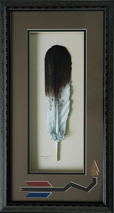 Golden Eagle Ceremonial Feather. $375.00, via Etsy.