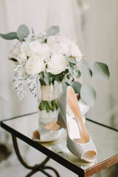 Sparkly wedding shoe