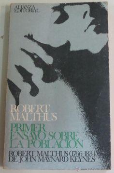 PRIMER ENSAYO SOBRE LA POBLACIÓN THOMAS ROBERT MALTHUS ALIANZA EDITORIAL AÑO 1968 - Foto 1