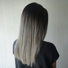 Asian hair, ombre, ash blonde, high contrast ombre More