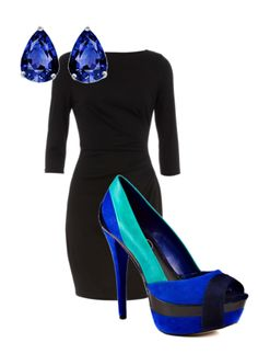 polyvore - my style. little black dress + awesome retro shoes = perfection
