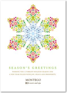 All Season Snowflake Business Holiday Card Designs from Tiny Prints