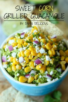 Coupla Things I've Been Craving : theBERRY // Sweet Corn Grilled Guacamole