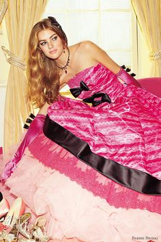 barbie bridal 2014 wedding dress luxurious barbie collection bb0127 cherry pink