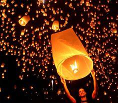 Yi Peng Festival (Lantern Festival), Chiang mai, Thailand