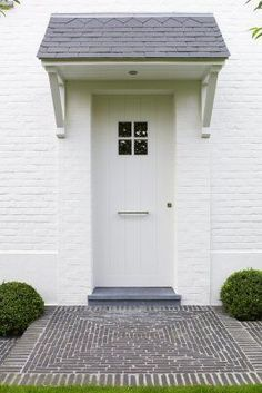 country front door overhang uk - Google Search                                                                                                                                                      More