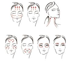 facial massage steps