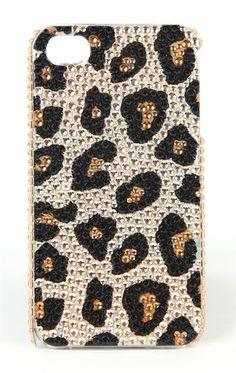 Leopard Bling iPhone Case