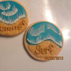 Royal icing summer cookies