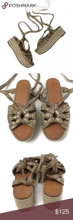 sigerson morrison • cosie platform sandals in excellent condition | hardly worn with no signs of wear.   style name is the cosie espadrille platform sandals. Sigerson Morrison Shoes Espadrilles